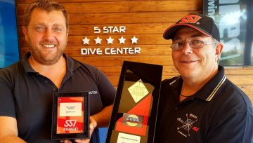 SSI Awards 2019 for experience 1000 divers certified and beginners